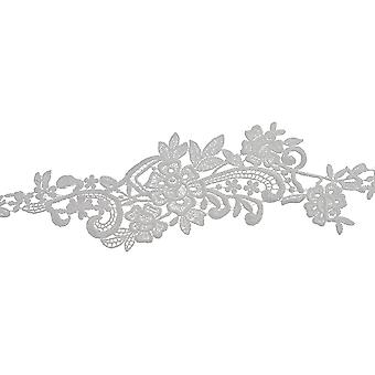 Floral Spray Venice Lace Trim 3-1/4