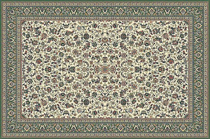 Kasbah Green 12311-416 Shades of ivory, beige and green Rectangle Rugs Traditional Rugs