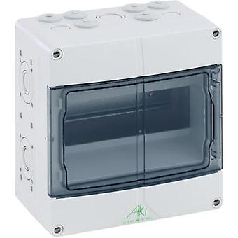 Distribution board Surface-mount No. of partitions = 9 No. of rows = 1 Spelsberg 73640901 AKi 09