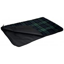 Black Watch Tartan Country Dog Fleece Blanket With Waterproof Backing-small