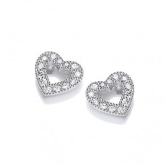 Cavendish French Diddy CZ Heart Earrings