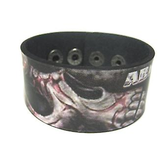 Abraham Graphic Tribal Skull Leather Bracelet Wristband