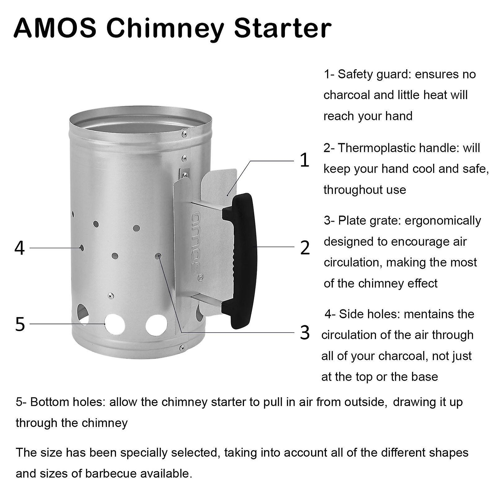 AMOS carbone Chimney Starter (piccolo)