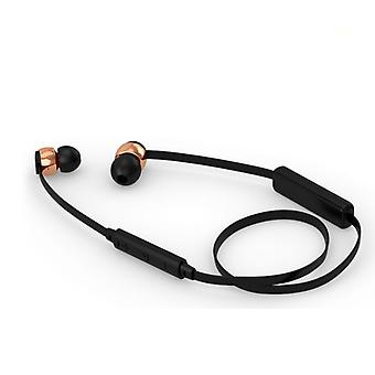 Sudio Vasa Blah Wireless In-Ear Headphones With Charger-Black With Rose Gold Metal