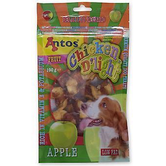 Antos kylling D'light Apple 100g (pakke med 10)
