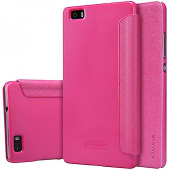 Oprindelige Nillkin smart cover Pink for Huawei Ascend P8 Lite