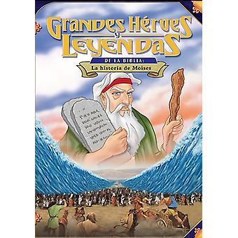 Historien om Moses [DVD] USA importerer