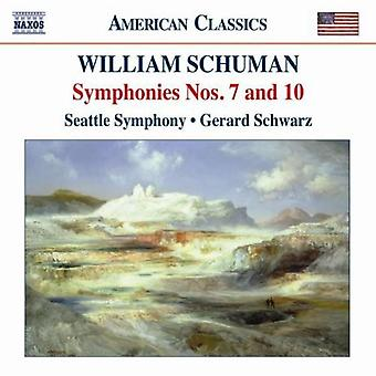 W. Schuman - William Schuman: Symphonies Nos. 7 & 10 [CD] USA import