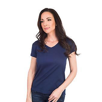 Agiato kvinders grundlæggende V hals T-Shirt