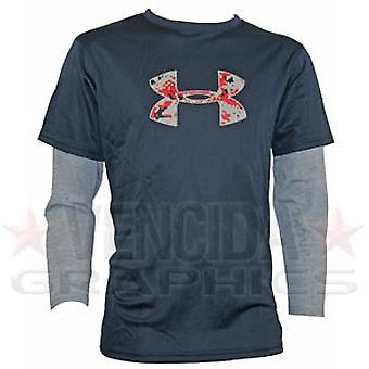 UNDER ARMOUR layered logo tee jnr [navy]