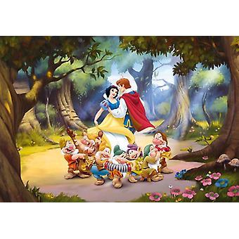 Sneeuwwitje en de zeven dwergen grote decoratie muurschildering Disney prinsessen