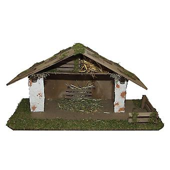 Crib Nativity scene wood Nativity stable SQUIDWARD hand work for characters up to 12 cm