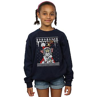 Tom And Jerry Girls Christmas Fair Isle Sweatshirt