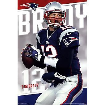 New England Patriots - T Brady 14 Poster drucken