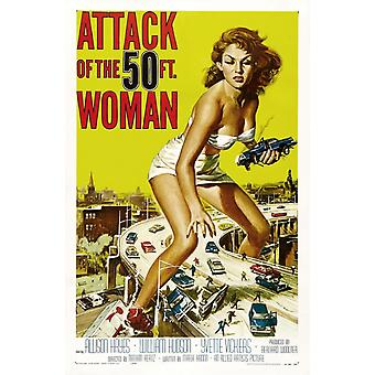 Attack Of The 50 Ft Woman Vintage Movie Poster Print
