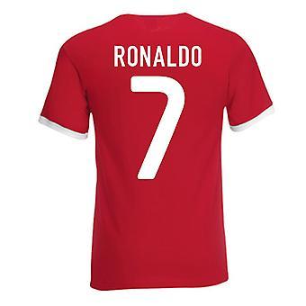 Cristiano Ronaldo Portugal Ringer Tee (rød)