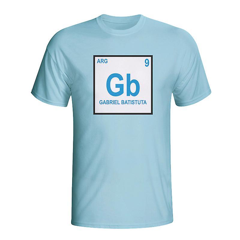 Gabriel Batistuta Argentina Periodic Table T-shirt (sky Blue)
