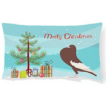 Engelsk Pouter Pigeon Christmas lerret stoff Dekorative Pillow