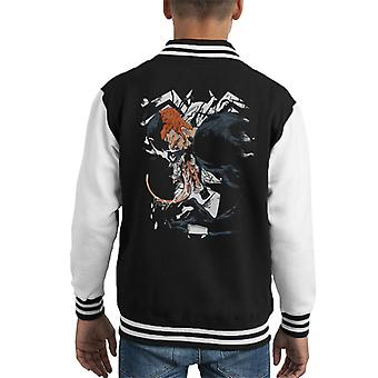 Venom Eddie Brock Half Face Kid's Varsity Jacket