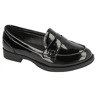 Spot On Childrens Girls Smart Loafer Style Shoes