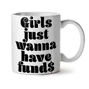 Chica tiene té blanco nuevo fresco divertido taza de café de cerámica 11 oz | Wellcoda