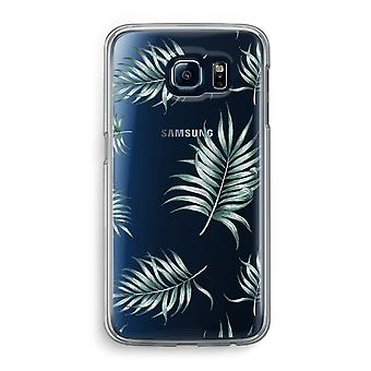 Samsung Galaxy S6 Transparent Case (Soft) - Simple leaves