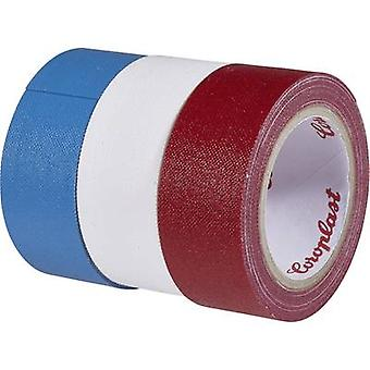Cloth tape Coroplast Blue, Red, White (L x W) 2.5 m x 19 mm