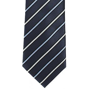 Michelsons of London Even Stripe Polyester Tie - Grey