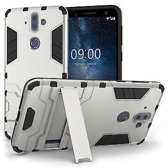 Caseflex Nokia 9 Armour Kickstand sag - sølv