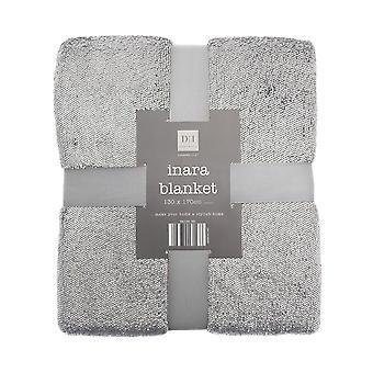 Country Club Foil Flannel Blanket, Grey