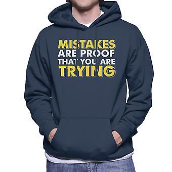 Fehler sind ein Beweis dafür, dass du Turnhalle Inspiration Herren Sweatshirt mit Kapuze versuchst