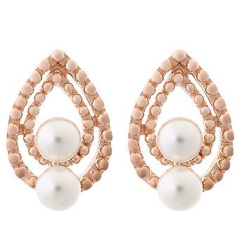 Orphelia argent 925 boucles d'oreilles perle Rose ZO-6033/1