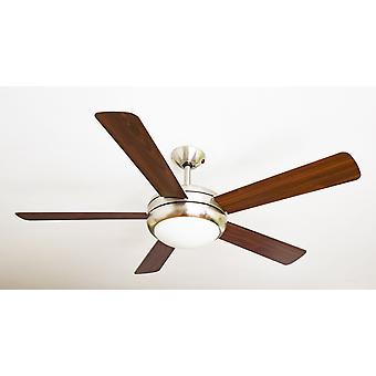 Ceiling Fan Ursa Silver & Walnut 132cm / 52