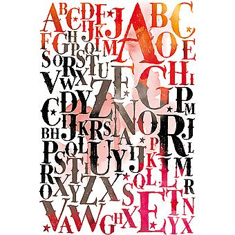 Carabelle Studio Cling Stamp A6-Alphabet Background