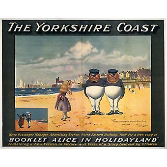 La côte du Yorkshire Alice au pays des merveilles - Carte postale (paquet de 8) - Art247 plus de haute qualité