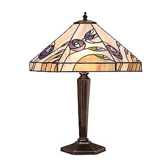 Interiors 1900 Damselfly 2 Light Table Lamp In Bronze Finish Wit