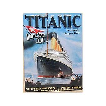 Titanic White Star Line große geprägt Stahl Zeichen