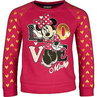 Girls ER1051 Disney Minnie Mouse Sweatshirt Size: 3-8 Years