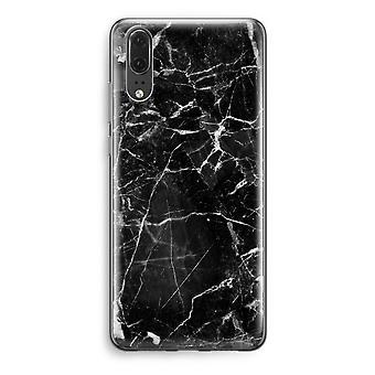 Huawei P20 Transparent Case - Black Marble 2