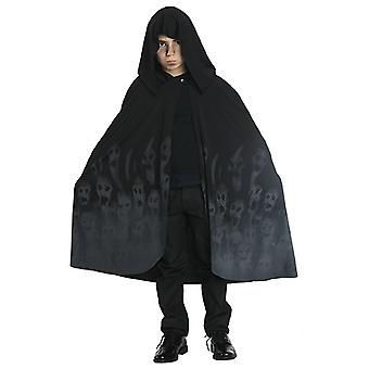 Ghostcape ghost Cape for Halloween child costume black