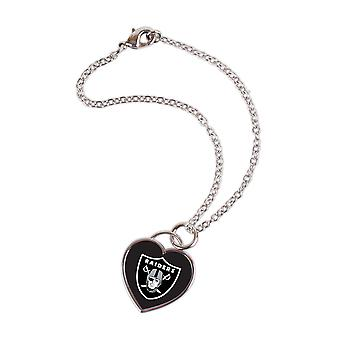 Wincraft ladies 3D heart bracelet - NFL Oakland Raiders