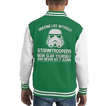 Opprinnelige Stormtrooper forestille seg livet uten barneklubb Varsity jakke