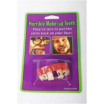 Blagues dentier avec un espace entre les dents de devant