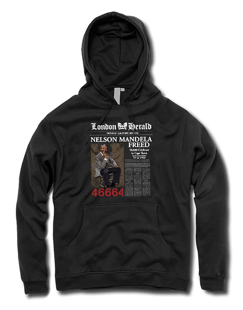 Mens Hoodie - Nelson Mandela Freed 46664 - ANC - Freedom