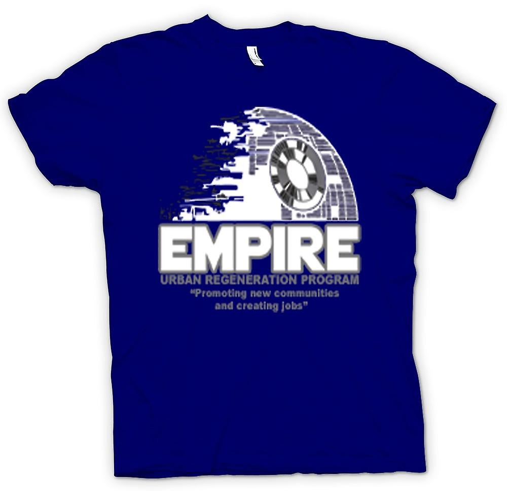 Mens T-shirt - Empire Urban Regeneration Death Star - Star Wars