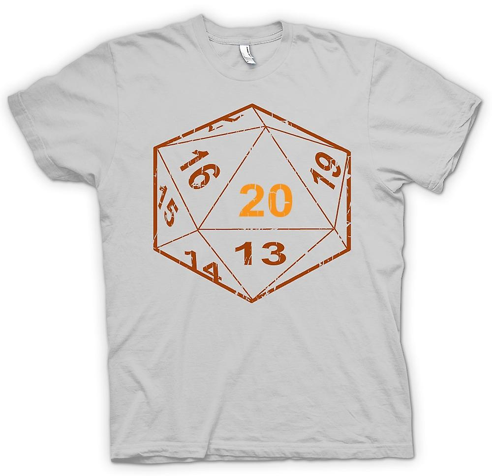 Mens T-shirt - Dungeons And Dragons D20 Dice - Gamer