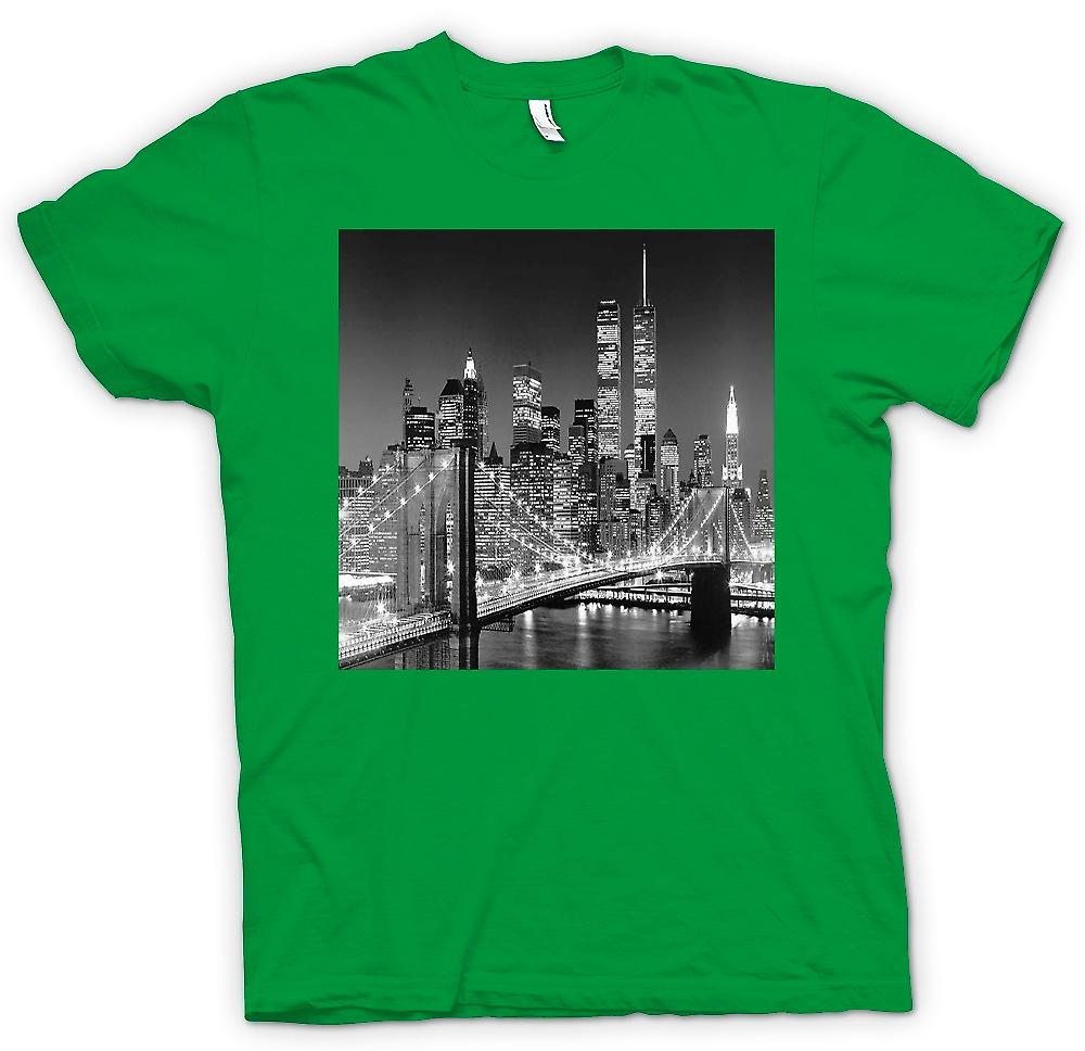 Mens T-shirt - New York Sky Line - Twin Towers