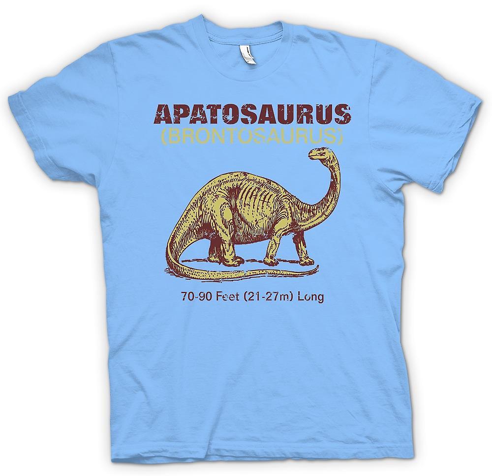 Hombres camiseta-Apatosaurus Brontosaurio fresco Dinousaur diseño