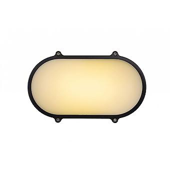 lucide Hublot CA LED applique da parete moderna ovale alluminio antracite