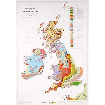 Geological Map of the British Islands (Small Scale Geology Maps)